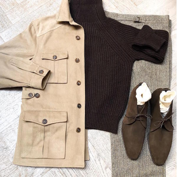 Heavy Drill Cotton Jacket outfit